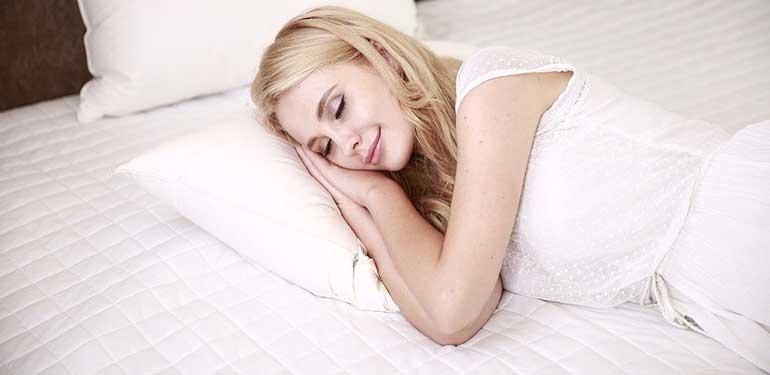 beautiful woman having sound sleep