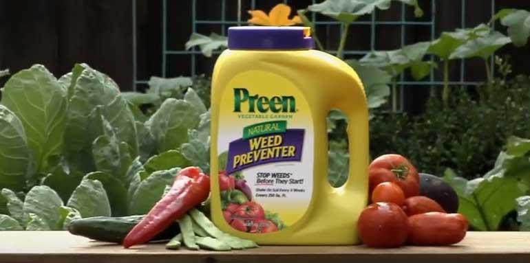 using preen in vegetable garden