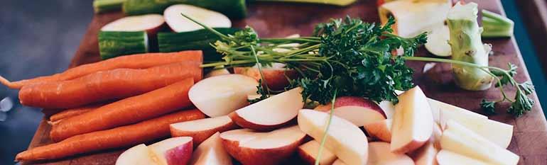 various foods on kitchen