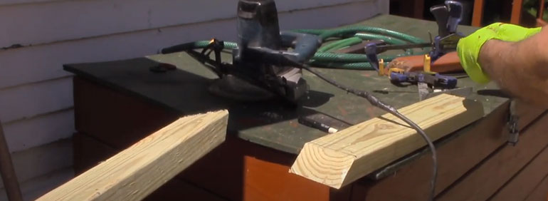 how to cut 45 degree angle with circular saw