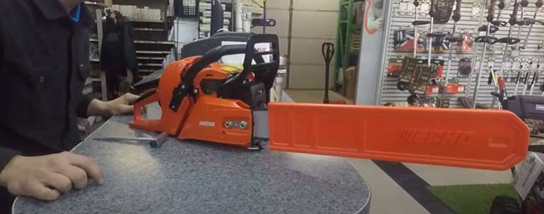 how to put a chain on a husqvarna chainsaw
