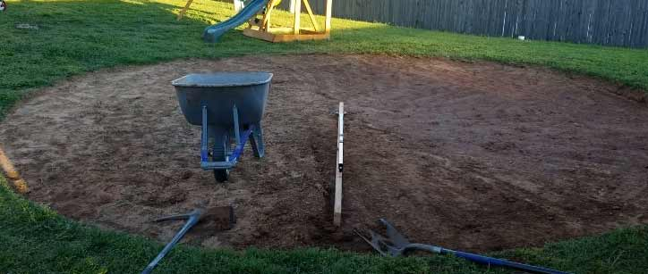 how to level ground for a pool