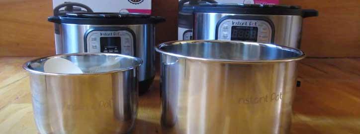 instant pot sizes