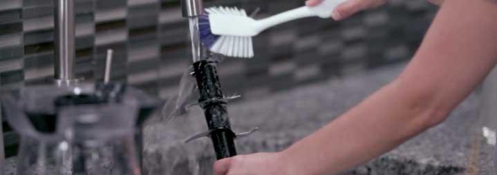 washing blades of Ninja blender