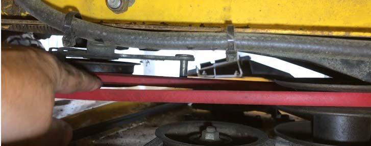 riding lawn mower drive belt slipping