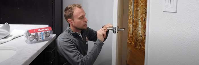 unlocking bathroom twist lock the the hard way