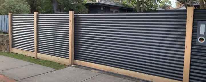 Corrugate Metal Fence