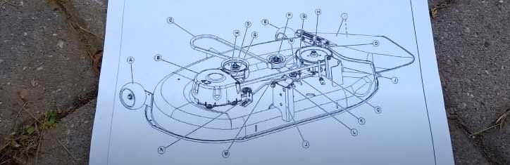 John Deere lawn mower belt diagram
