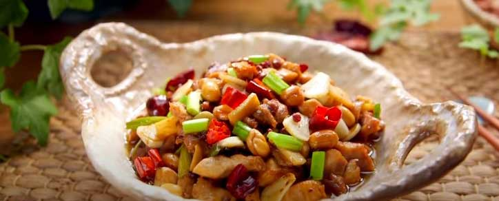 Chinese foods: Kung Pao Chicken