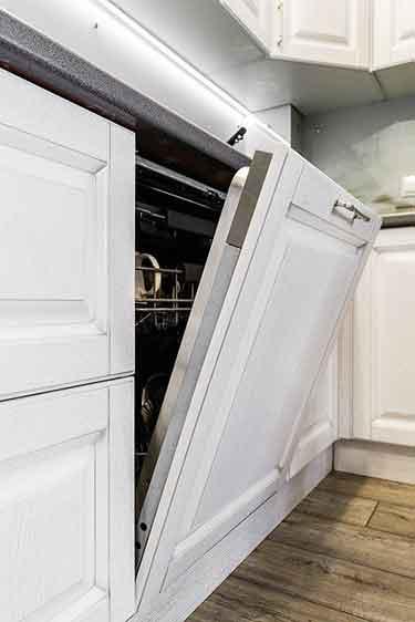a white dishwasher