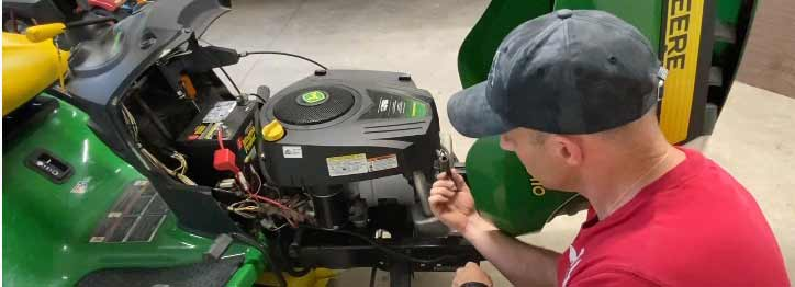 fixing a Deere diesel tractor