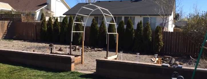how to make a garden arch with PVC pipe