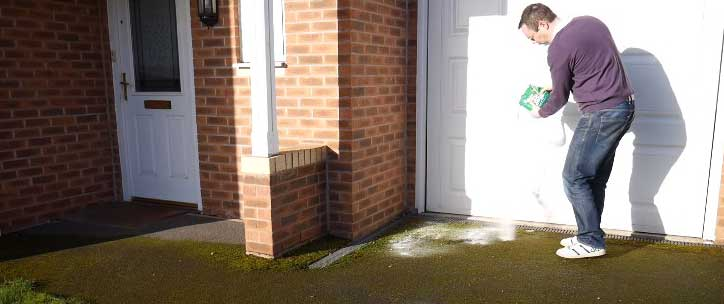 how to permanently remove moss from concrete