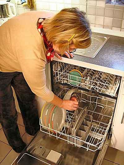interior of a dishwasher