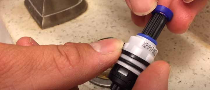 replace cartridge in Price Pfister 2 handle kitchen faucet