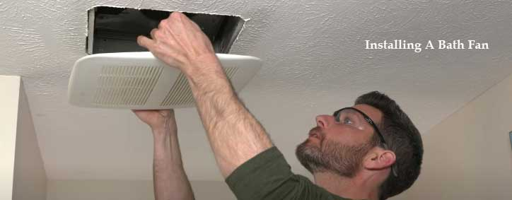 how to install a bathroom fan where one does not exist