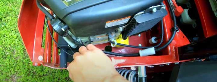 how to service a Ferris zero turn mower