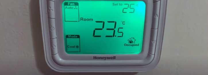 room temperature & thermostat mismatch