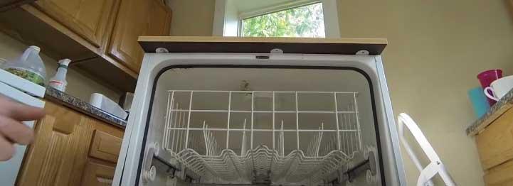 a Whirlpool dishwasher
