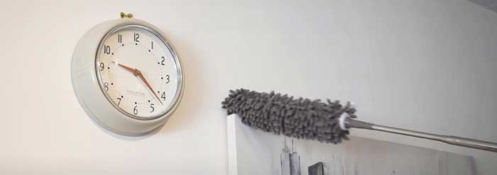 removing dust from wall
