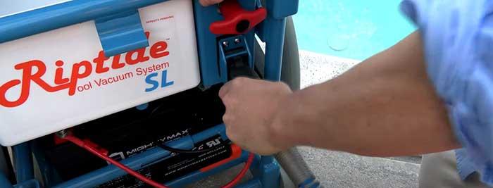 Riptide pool vacuum