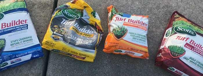 Scotts 4 step vs. Turf builder