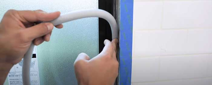 how to waterproof a window in a shower