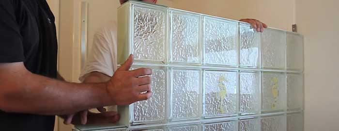 using glass blocks to waterproof shower window